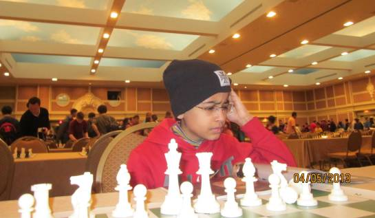 Akshat at the SuperNational Blitz Chess tournament