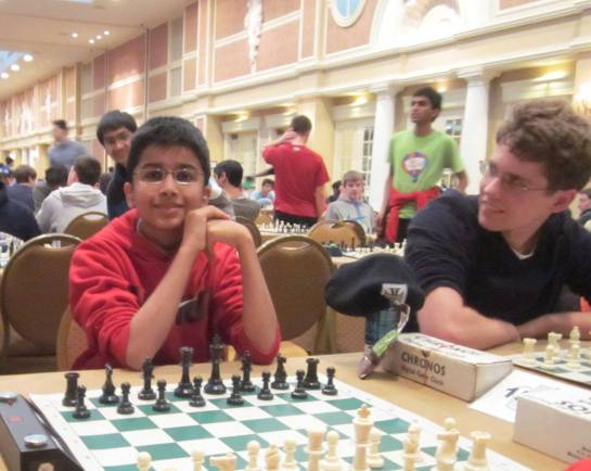 Akshat Chandra - waiting for the Blitz Chess rounds to begin