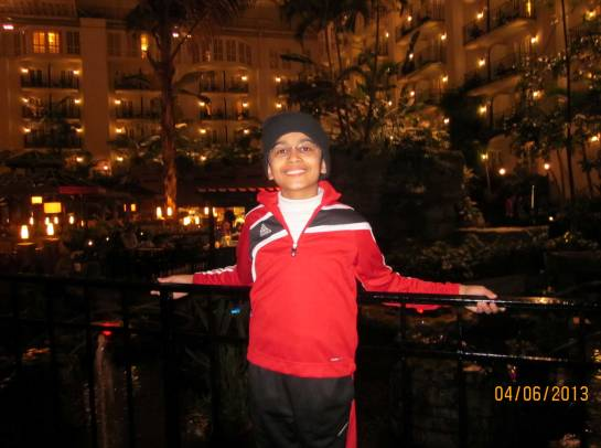 Akshat at the Gaylord Opryland.  It was as big as a theme park.