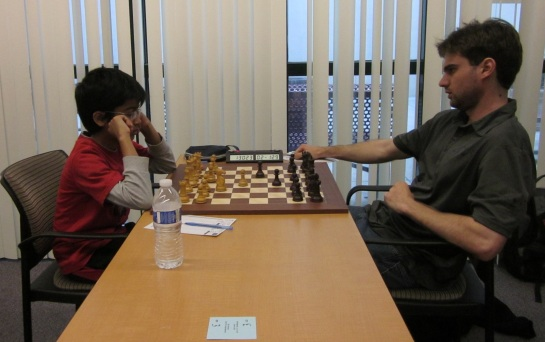 Akshat Chandra playing GM Sam Shankland at New York International