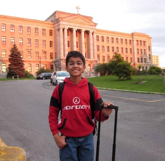 Arriving at Collège Jean-de-Brébeuf in Montréal - Akshat Chandra