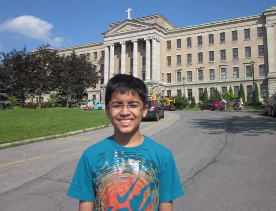 Akshat at the College , Montreal, which was the Chess venue
