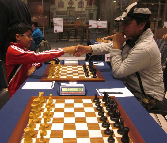 Akshat Chandra Vs Butch in Round 5 of Quebec Chess tournament